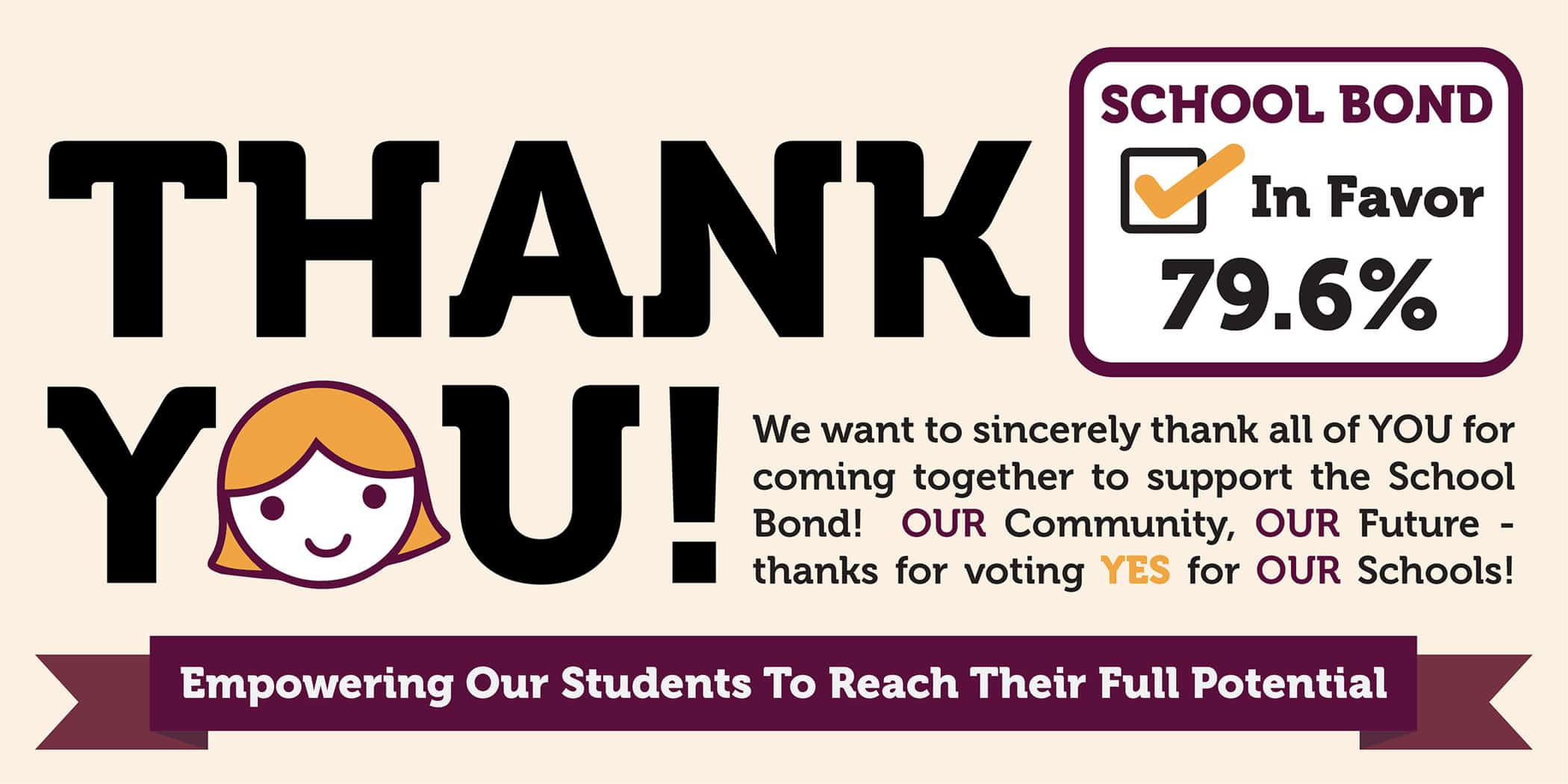 thank you, the bond vote passed