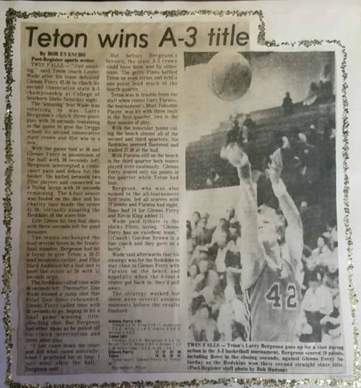 1976 undefeated teton high school basketball
