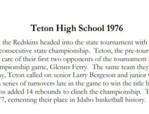 Recognition Slated for 70's B-Ball Champs