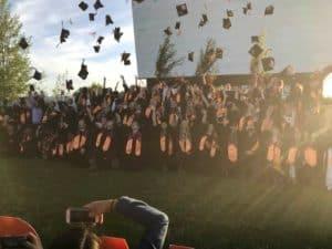 teton high school graduation at the spud drive-in