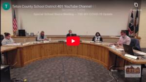 Special School Board Meeting – TSD 401 COVID-19 Update